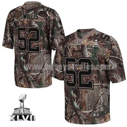 Nike 49ers #52 Patrick Willis Camo Super Bowl XLVII Men's Stitched NFL Realtree Elite Jersey