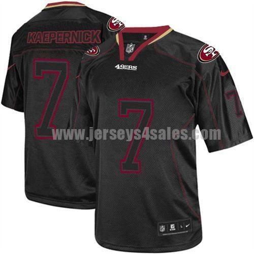 Nike 49ers #7 Colin Kaepernick Lights Out Black Men's Stitched NFL Elite Jersey