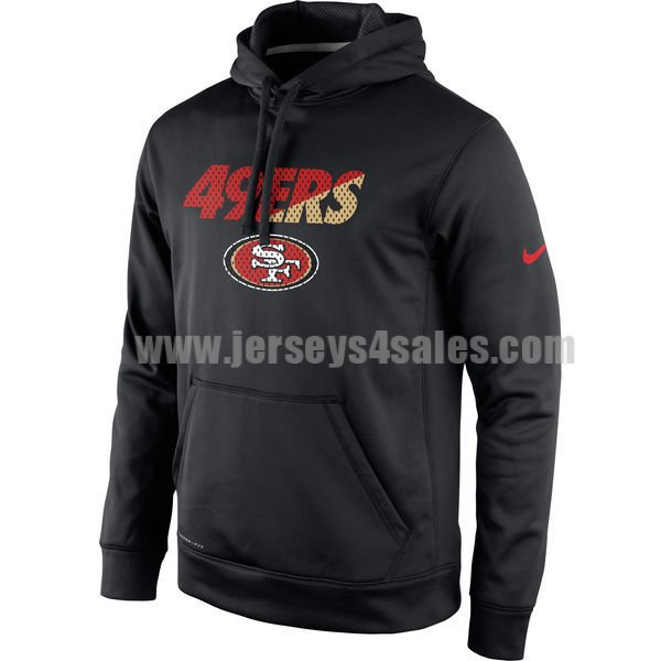 Men's San Francisco 49ers Black Kick Off Staff Performance Pullover Nike NFL Hoodie