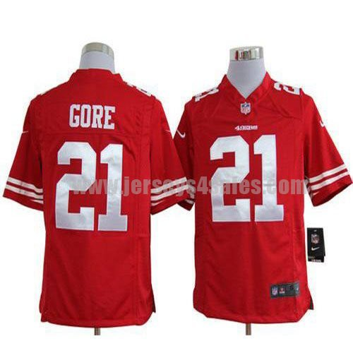 Nike 49ers #21 Frank Gore Red Team Color Men's Stitched NFL Game Jersey