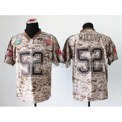 Nike 49ers #52 Patrick Willis Camo Men's Stitched NFL New Elite USMC Jersey