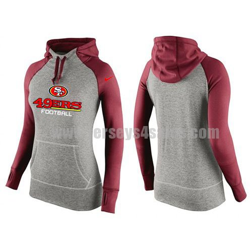 Women's San Francisco 49ers Nike Grey/Red All Time Performance NFL Hoodie