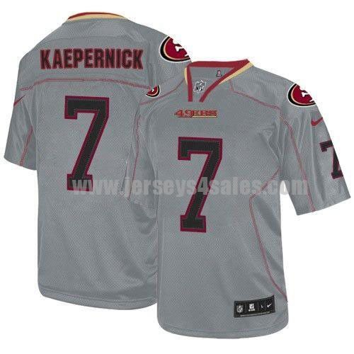 Nike 49ers #7 Colin Kaepernick Lights Out Grey Men's Stitched NFL Elite Jersey
