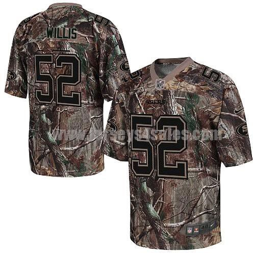 Nike 49ers #52 Patrick Willis Camo Men's Stitched NFL Realtree Elite Jersey