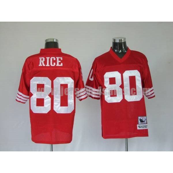Mitchell and Ness 49ers Jerry Rice #80 Stitched Red NFL Jersey