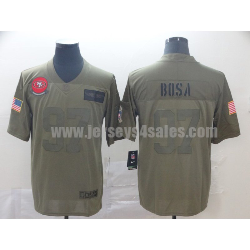Men's San Francisco 49ers #97 Nick Bosa Nike Camo 2019 Salute to Service Limited Jersey