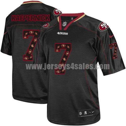 Nike 49ers #7 Colin Kaepernick New Lights Out Black Men's Stitched NFL Elite Jersey