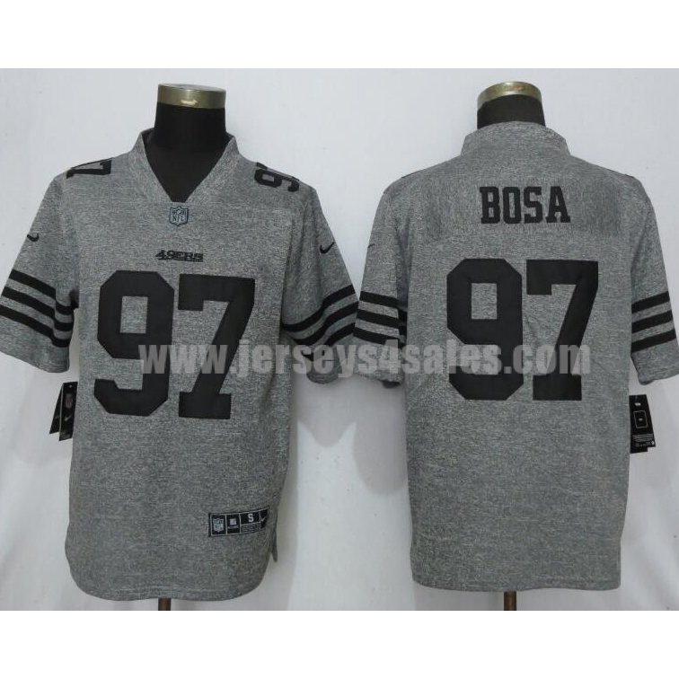 Men's New Nike San Francisco 49ers #97 Nick Bosa 2019 Vapor Untouchable Stitched Gridiron Gray Limited Jersey