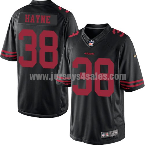 Youth San Francisco 49ers #38 Jarryd Hayne Black Stitched Nike NFL Alternate Elite Jersey