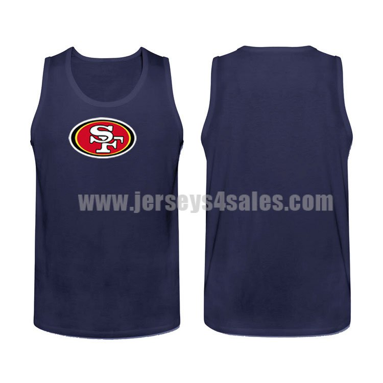 Men's San Francisco 49ers Cotton Team Nike NFL Navy Blue Tank Top