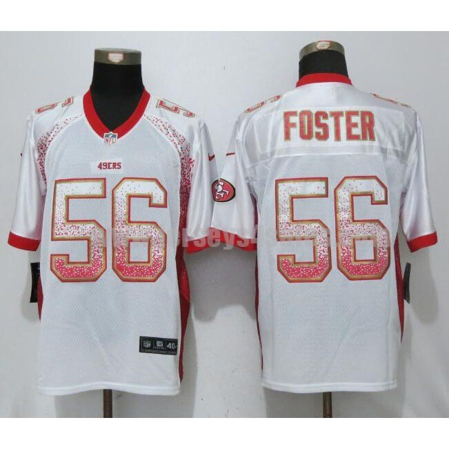 Men's San Francisco 49ers #56 Reuben Foster White Stitched Nike NFL Drift Fashion Elite Jersey