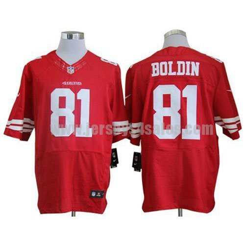 Nike 49ers #81 Anquan Boldin Red Team Color Men's Stitched NFL Elite Jersey