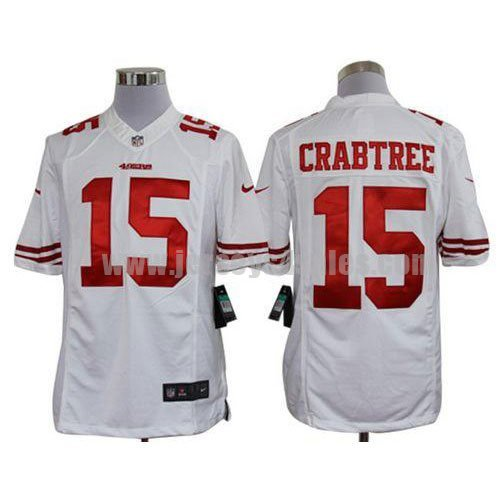Nike 49ers #15 Michael Crabtree White Men's Stitched NFL Limited Jersey