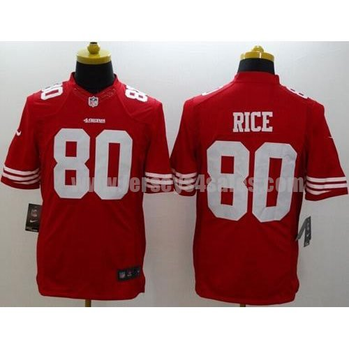 Nike 49ers #80 Jerry Rice Red Team Color Men's Stitched NFL Limited Jersey