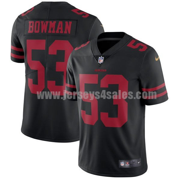 Men's San Francisco 49ers #53 NaVorro Bowman Black Nike NFL Vapor Untouchable Limited Jersey
