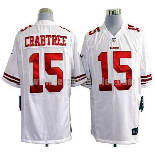 Nike 49ers #15 Michael Crabtree White Men's Stitched NFL Game Jersey