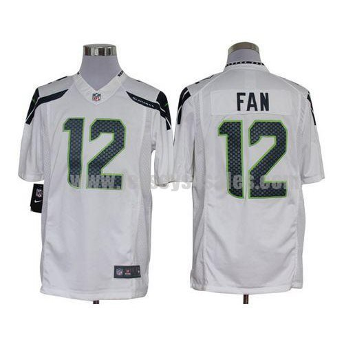 Nike Seahawks #12 Fan White Men's Stitched NFL Limited Jersey