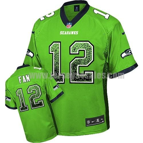 Nike Seahawks #12 Fan Green Men's Stitched NFL Elite Drift Fashion Jersey
