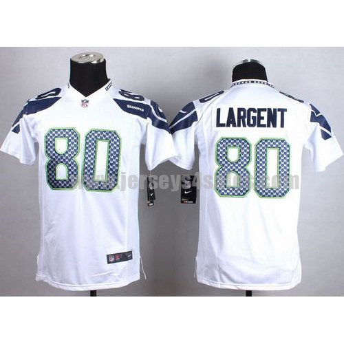 Nike Seahawks #80 Steve Largent White Youth Stitched NFL Elite Jersey