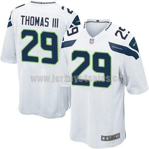 Nike Seahawks #29 Earl Thomas III White Men's Stitched NFL Game Jersey