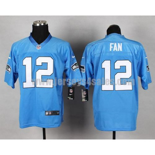 Nike Seahawks #12 Fan Light Blue Men's Stitched NFL Elite Jersey