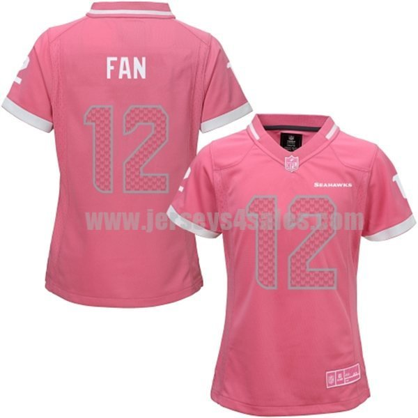 Women's Seattle Seahawks #12 12th Fan Pink Bubble Gum Jersey