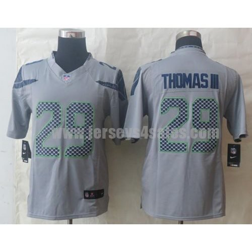 Nike Seahawks #29 Earl Thomas III Grey Alternate Men's Stitched NFL Limited Jersey