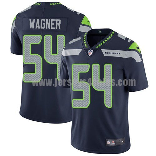 Youth Seattle Seahawks #54 Bobby Wagner Navy Blue Nike NFL Vapor Untouchable Limited Jersey