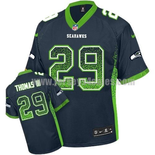 Nike Seahawks #29 Earl Thomas III Steel Blue Team Color Men's Stitched NFL Elite Drift Fashion Jersey