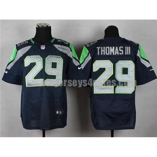 Nike Seahawks #29 Earl Thomas III Steel Blue Team Color Men's Stitched NFL Elite Jersey