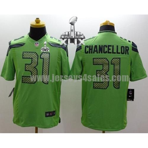 Nike Seahawks #31 Kam Chancellor Green Alternate Super Bowl XLIX Men's Stitched NFL Limited Jersey