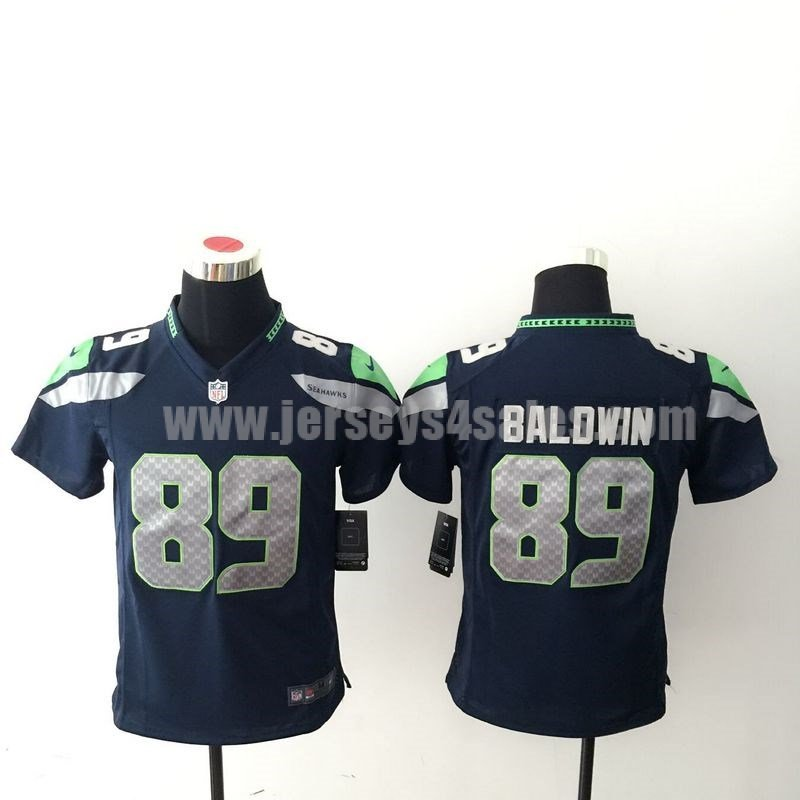 Youth Seattle Seahawks #89 Doug Baldwin Navy Blue Nike NFL Home Game Jersey