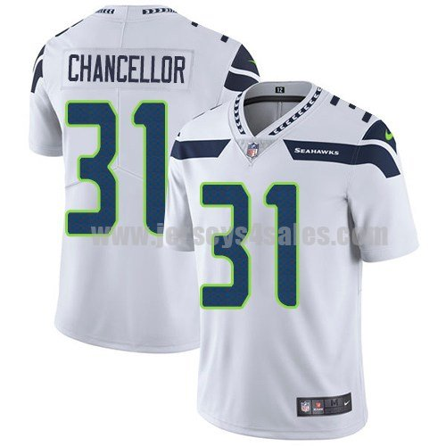 Youth Seattle Seahawks #31 Kam Chancellor White Nike NFL Vapor Untouchable Limited Jersey