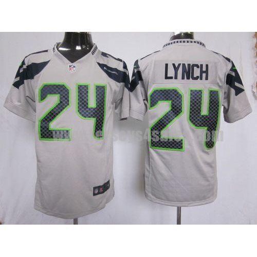Nike Seahawks #24 Marshawn Lynch Grey Alternate Men's Stitched NFL Game Jersey