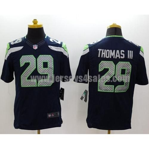Nike Seahawks #29 Earl Thomas III Steel Blue Team Color Men's Stitched NFL Limited Jersey