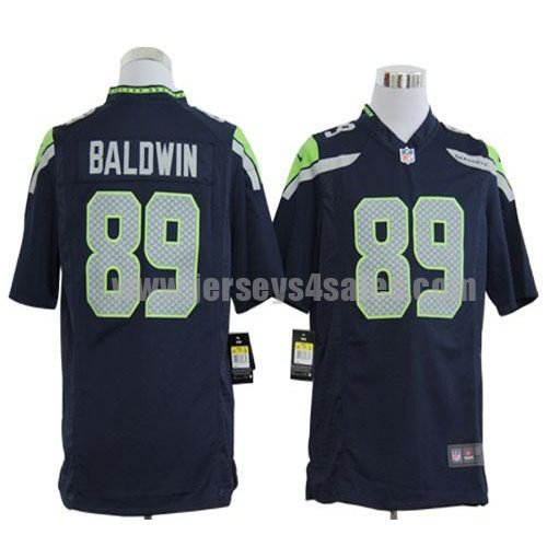 Nike Seahawks #89 Doug Baldwin Steel Blue Men's Stitched NFL Game Jersey