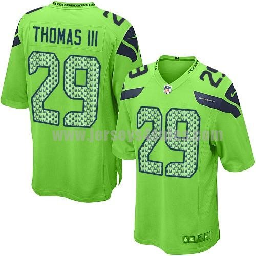 Nike Seahawks #29 Earl Thomas III Green Alternate Men's Stitched NFL Game Jersey
