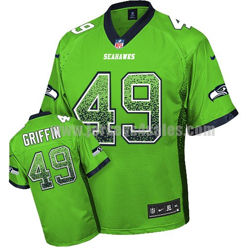 Nike Seattle Seahawks #49 Shaquem Griffin Green Men's Stitched NFL Elite Drift Fashion Jersey