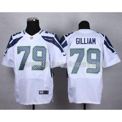 Nike Seahawks #79 Garry Gilliam White Men's Stitched NFL Elite Jersey