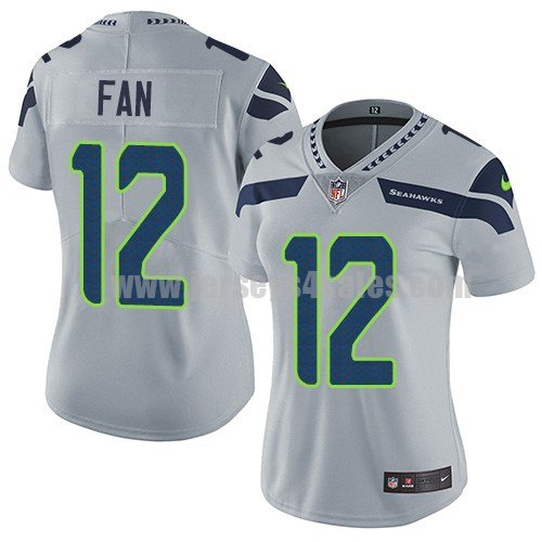 Women's Seattle Seahawks #12 12th Fan Grey Nike NFL Vapor Untouchable Limited Jersey