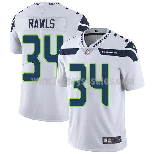 Youth Seattle Seahawks #34 Thomas Rawls White Nike NFL Vapor Untouchable Limited Jersey