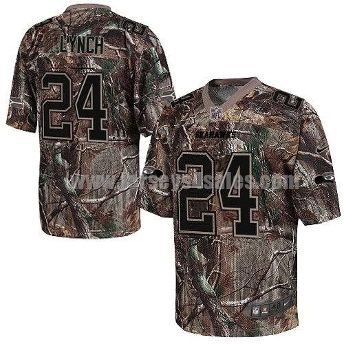 Nike Seahawks #24 Marshawn Lynch Camo Men's Stitched NFL Realtree Elite Jersey