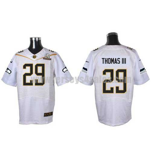 Men's Seattle Seahawks #29 Earl Thomas III White Stitched Nike NFL 2016 Pro Bowl Elite Jersey