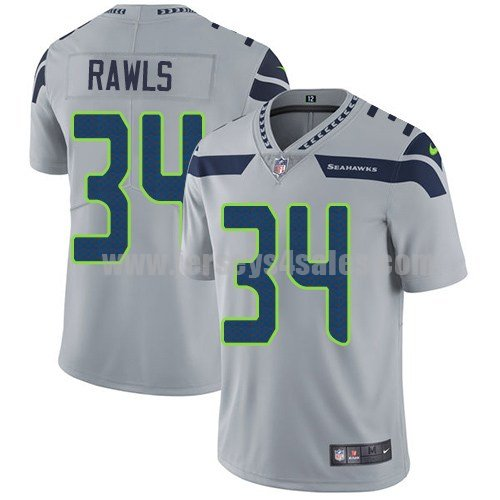 Youth Seattle Seahawks #34 Thomas Rawls Grey Nike NFL Vapor Untouchable Limited Jersey