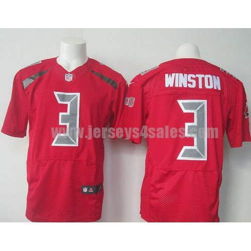Men's Tampa Bay Buccaneers #3 Jameis Winston Red Stitched Nike NFL Color Rush Limited Jersey