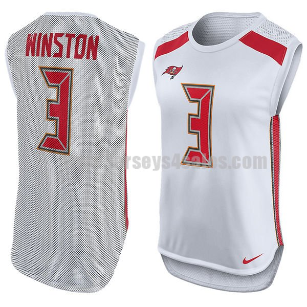 Women's Tampa Bay Buccaneers #3 Jameis Winston White Nike Player Name & Number Sleeveless NFL Top