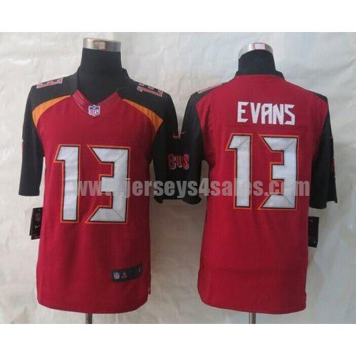 Nike Buccaneers #13 Mike Evans Red Team Color Men's Stitched NFL New Limited Jersey