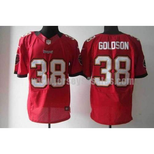 Nike Buccaneers #38 Dashon Goldson Red Team Color Men's Stitched NFL Elite Jersey