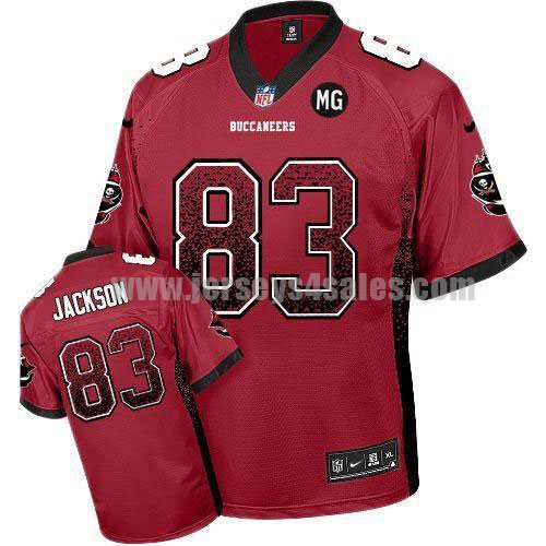 Nike Buccaneers #83 Vincent Jackson Red Team Color With MG Patch Men's Stitched NFL Elite Drift Fashion Jersey