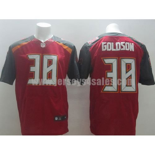 Nike Buccaneers #38 Dashon Goldson Red Team Color Men's Stitched NFL New Elite Jersey